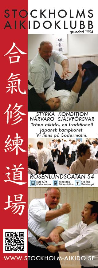 Stockholms Aikidoklubbs poster. Stockholms Aikidoklubb, traditionell aikido och självförsvar